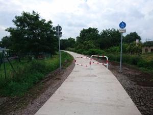 Radwanderweg zwischen Dedeleben und Eilenstedt
