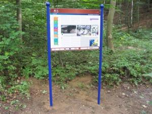 Falltblatt und Infotafeln für den Geopark Harz