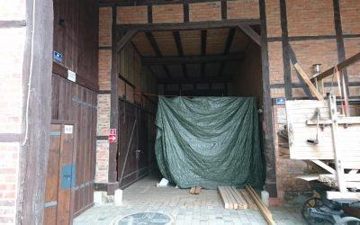Einrichtung eines Trockenraums mit Toilette und Fahrradabstellraum für Fahrradtouristen sowie Ausbau Produktionsraum und Umnutzung alte Zimmerei zum Zuckerlager und Obstmaischelager